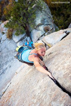 [pinterest][photo] Climbing: Moving Up - Holly Merriman on Fred Rasmussen (5.8)…