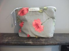 Coral Flower Makeup Bag by HASinspiration on Etsy, $15.00
