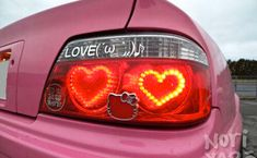 Minus the Hello Kitty symbol and the color pink Pretty Cars, Cute Cars, Pretty In Pink, Tesla Roadster, Ford Falcon, Ford Gt, Cabrio Vw, Jdm, Hello Kitty Car