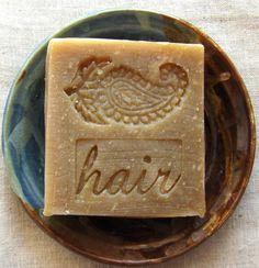Unscented Henna shampoo bar by Aquarian Bath