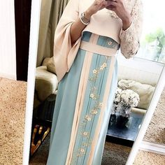 No photo description available. Hijab Wedding Dresses, Disney Wedding Dresses, Hijab Bride, Abaya Style, Islamic Fashion, Muslim Fashion, Nice Dresses, Girls Dresses, Mode Abaya