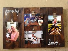 Pallets picture holder