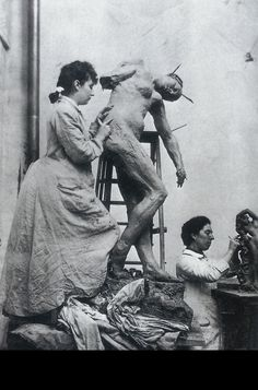 """Camille Claudel December 1864 – 19 October The sculptor and mistress of sculptor Auguste Rodin was called """"a revolt against nature: a woman genius."""" While she and Rodin collaborated on art pieces, they had an 8 year affair. Auguste Rodin, Musée Rodin, Camille Claudel, Artist Art, Artist At Work, Jackson's Art, Nogent Sur Seine, The Kiss, French Sculptor"""