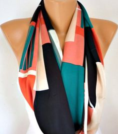 Chevron  Infinity Scarf Shawl Circle Scarf Loop Scarf  by fatwoman, $17.00
