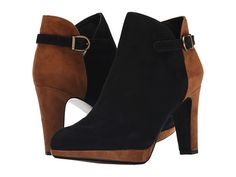 Womens Boots Vaneli Ionna Black Suede/Cuoio Suede