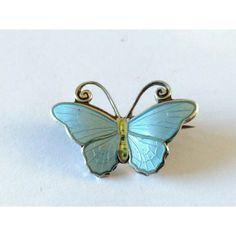 Vintage Butterfly Brooch Hestenes Norway Silver Brooch