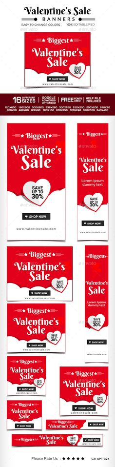 Valentaines Sale Banner | Download: http://graphicriver.net/item/valentaines-sale-banner/10247921?ref=ksioks