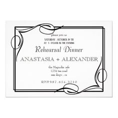 Classic Invitation to the Rehearsal dinner. Wedding Rehearsal Invitations, Beautiful Wedding Invitations, Wedding Rsvp, Wedding Invitation Templates, Custom Invitations, Party Invitations, Invitation Ideas, Rehearsal Dinners, Perfect Wedding