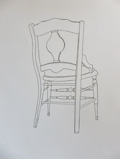 Obrianna Vine Chair- line drawing