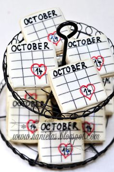 Haniela's: ~Bridal Shower Calendar Cookies~