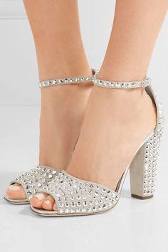 Giuseppe Zanotti | Crystal-embellished suede sandals | NET-A-PORTER.COM