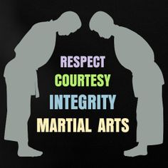Courtesy, integrity, perseverance, self-control, respect, and victory, sir!