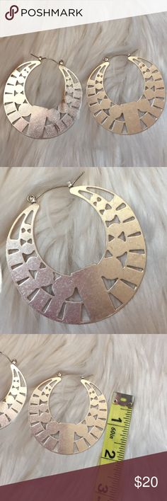 Aztec Silver Earrings Make a statement with these gorgeous silver Aztec earrings Jewelry Earrings
