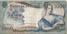 NOTA DE 1000 ESCUDOS D.MARIA II - 19 MAIO 1967 ...
