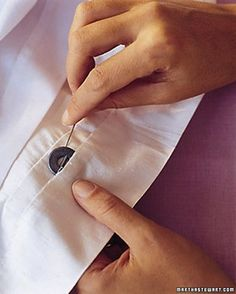 Attach tiny weights to the bridesmaids' hems to keep their dresses from flying up on a windy day. GENIUS!