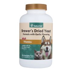 NaturVet Brewer's Dried Yeast Formula with Garlic Flavoring Plus Vitamins for Dogs and Cats, Chewable Tablets, Made in USA => Hurry! Check out this great product : Cat Supplies