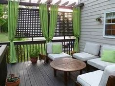 how to close in a deck with curtains - Bing Images