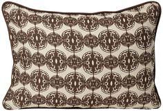 """Dunes 20"""" Wide Brown Designer Pillow -"""