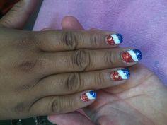 Fourth of July nails By Kristi Owens At Astonish salon Midland tx