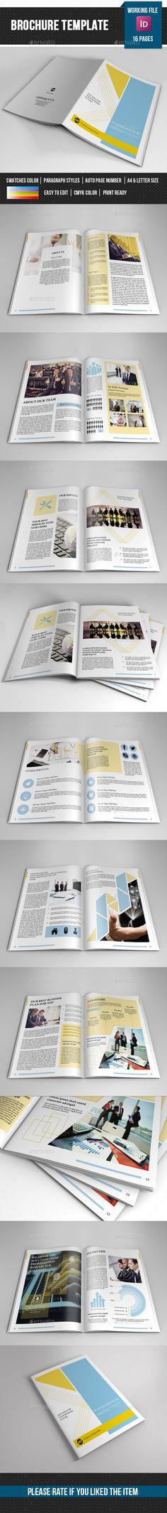 The Creative Brochure - Landscape Vol2 Brochures, Indesign - corporate brochure template