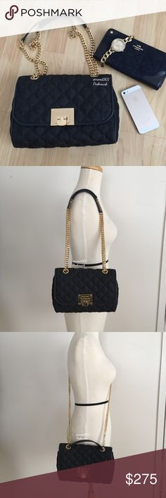 """Michael Kors Quilted Jean Denim Vivianne Purse Bag This chic but elegant Vivianne Denim Quilted Shoulder Purse by Michael Kors converts to a crossbody. Comes to you brand new, with tags and wrapped in original packaging. This is fashion at its finest, versatile as it will compliment any wardrobe from casual to dressy. Gold accents hardware to elevate your fashion. Adjustable straps from 13"""" - 24"""". Measures 9.5"""" x 7"""" x 3"""". Flap top with push lock clasp lock. Outside back pocket perfect for…"""