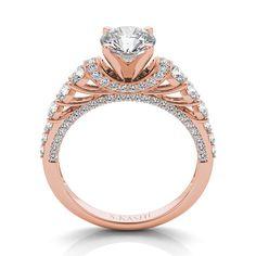 14kt Rose Gold Diamond Engagement Ring on Etsy, $1,299.00