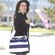 Paige Striped Tote - 4 Colors!