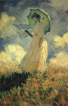 """Claude Monet """"Woman with a Parasol (also known as Study of a Figure Outdoors (Facing Left)), 1886"""""""