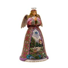 "Jim Shore ""Spring Renews the Spirit"" Angel with Bluebird"