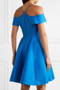 Bright-blue cotton and silk-blend faille Concealed hook and zip fastening at back 81% cotton, 19% silk; lining: 100% polyester Dry clean Large to size. See Size & Fit notes