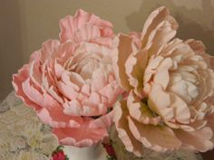 Gumpaste peony by kristykreations on Etsy, $25.00