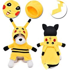 PAWZ Road Halloween Pokemon Go Pikachu Design Pet Costume Dog Clothes Puppy Hoodie XL -- Awesome products selected by Anna Churchill