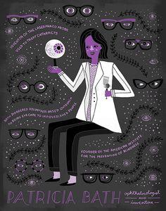 PatriciaBath  oftalmóloga y voluntaria Patricia Bath, la vista es un derecho humano básico.