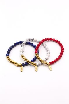 Men's 3-Pack Beaded Bracelet Norwegian Set