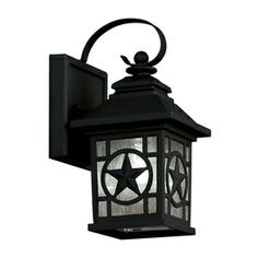 Portfolio 2-Pack 9-in Black Outdoor Wall Light
