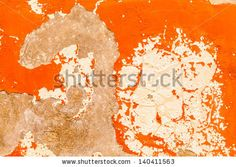 Backgrounds and Textures - Ancient orange wall. by eZeePics Studio, via ShutterStock #background #texture