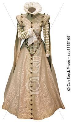Stock Foto - Beige, renaissance, jurkje, cutout - stock beelden, beelden, royalty-vrije foto, stock foto's, stock fotografie, stock fotografieën, beeld, beelden, grafiek, grafieken