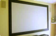 Our DIY home theater features a projector TV and our framed out screen… :: Hometalk