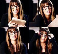 Lea Michele with glasses!