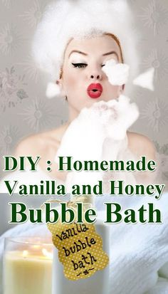 Vanilla & Honey Home Made Bubble Bath...   ■¾ cup olive oil or sweet almond oil  ■1 cup creamy baby wash  ■½ cup honey  ■1 tbsp pure vanilla extract