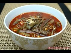 Yukgaejang!  If you like spice and veggies, you'll love this Korean soup.