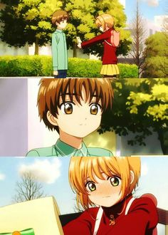 Sakura e Syaoran Li. Cardcaptor Sakura, Syaoran, Manga Anime, Otaku Anime, Image Pastel, Anime City, Card Captor, Clear Card, Chibi