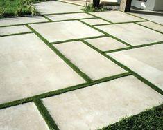 29 New Ideas Backyard Grass Landscaping Concrete Pavers Backyard landscaping concrete pavers Concrete Patios, Large Concrete Pavers, Concrete Patio Designs, Paver Designs, Poured Concrete, Cement Patio, Cement Tiles, Concrete Garden, Modern Landscape Design