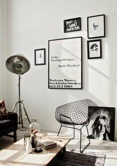 dustjacket attic: Scandinavian Style Nice wall