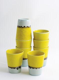 madrague citron/givre - Collection Jars Céramistes