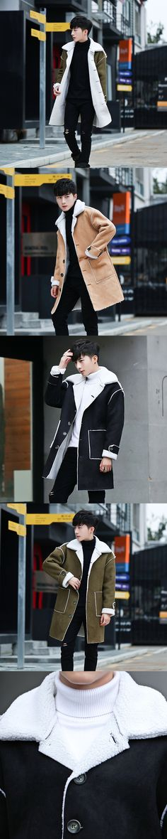 2017 Autumn And Winter New Products In The Long Style Men's Windbreaker Long Clothes, Men's Coat And Cashmere Coat