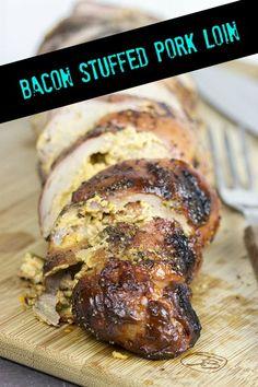 Bacon Stuffed Pork Tenderloin