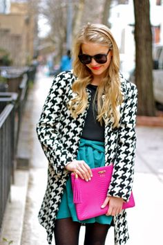GiGi New York | Styled Snapshots Fashion Blog | Magenta Uber Clutch