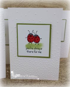 Ladybugs Cards, using Love You Lots Hostess stamp set from Stampin' Up!