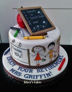 Image result for 60th birthday and retirement cake ideas for teachers working with deaf children